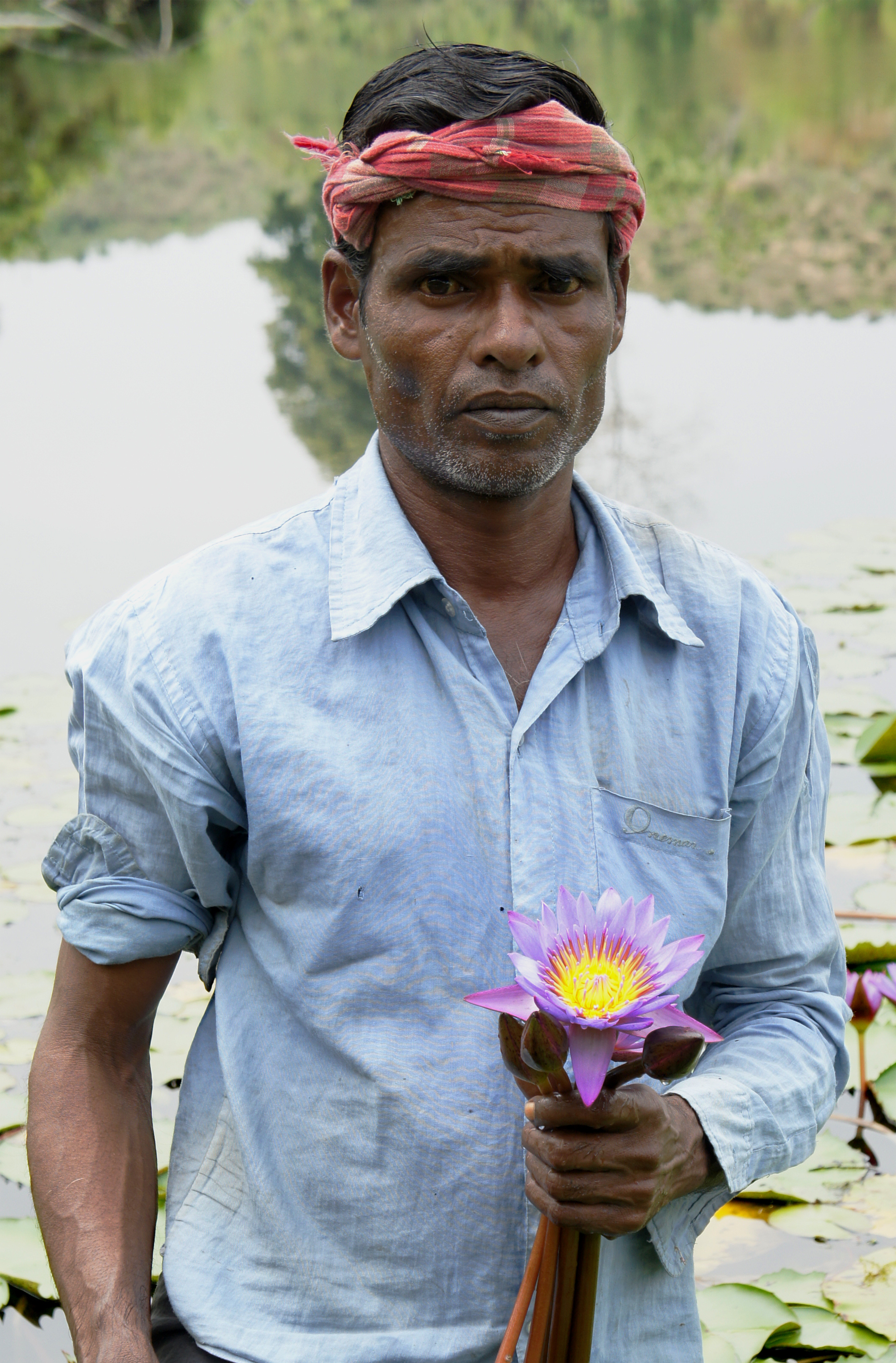 Man with Lilly